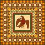 English: Textiles - illustration of a medallio...