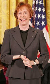Carol Burnett, receiving a Presidential Medal ...