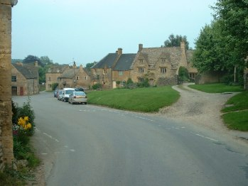 Guiting Power: looking South East down the village.