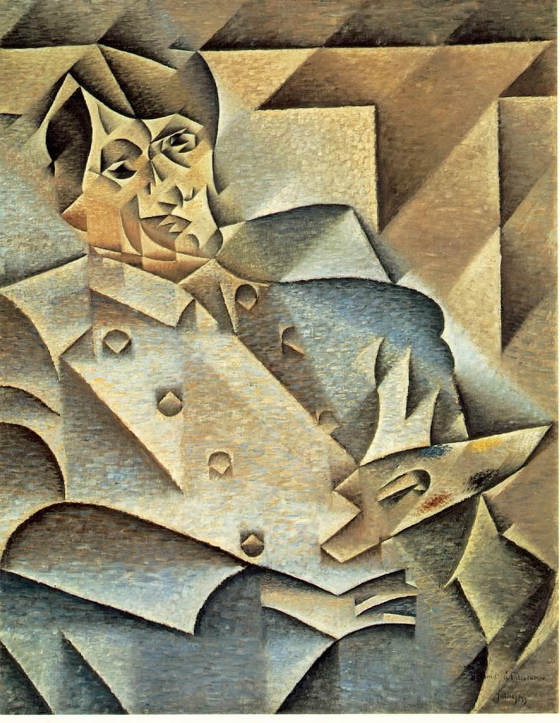 de3d2296c لوحة تكعيبية شخصية تصور بيكاسو للفنان : جوان غريس 1912