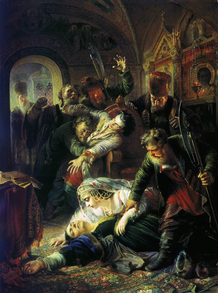 https://i1.wp.com/upload.wikimedia.org/wikipedia/commons/8/81/Makovsky_False_Dmitrys_agents_murdering_Feodor_Godunov_and_his_mother_1862.jpg