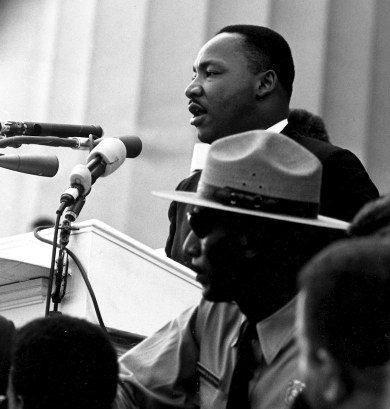 Dr. Martin Luther King, Jr. delivering his I Have a Dream Speech at the Civil Rights March on Washington, D.C. 08/28/1963 ARC Identifier 542069 / Local Identifier 306-SSM-4D(107)16