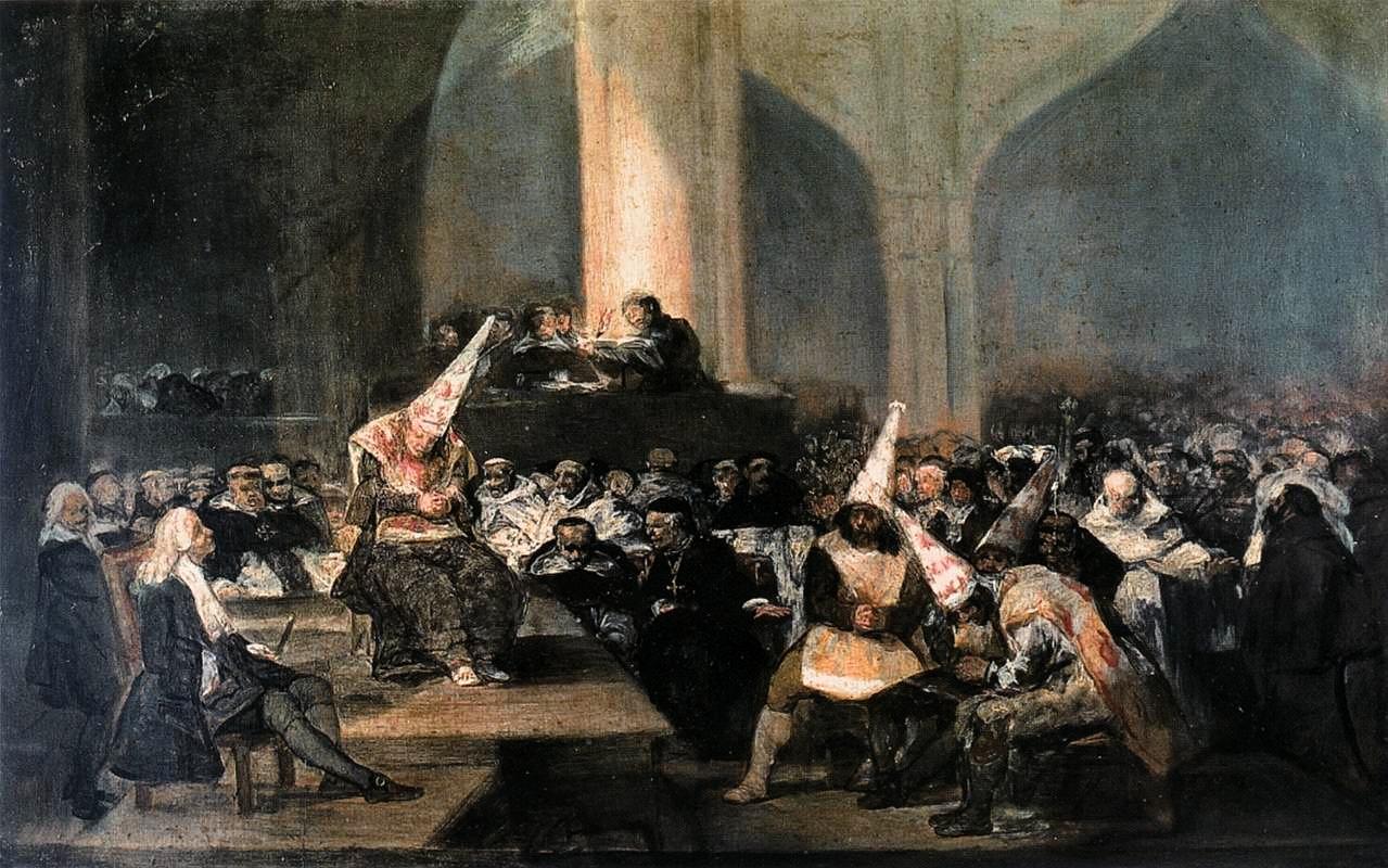 """The Tribunal of Inquisition,"" Goya (1812-1819)."