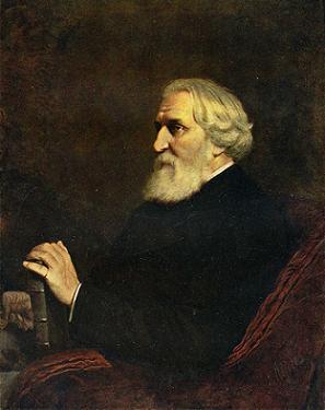 English: Portrait of Turgenev by Vasily Perov,...