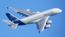 Airbus A380 blue sky