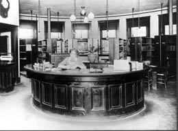 Reference Desk Ballard Library ca. 1907