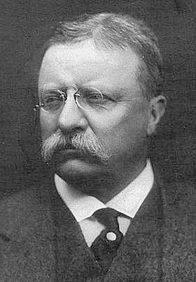 English: Theodore Roosevelt wearing pince-nez,...