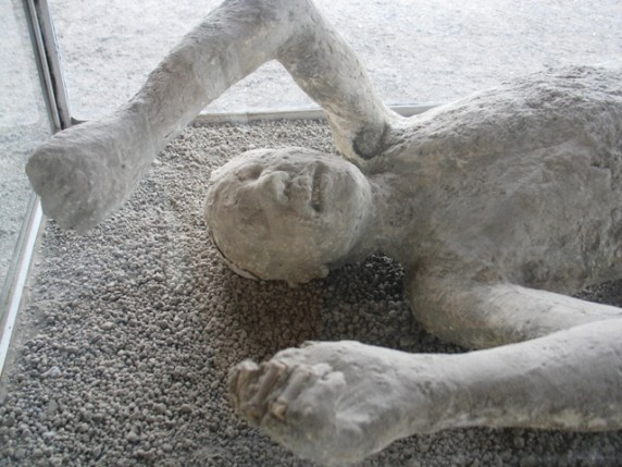 Plaster casts capture the last moments of Pompeii's citizens