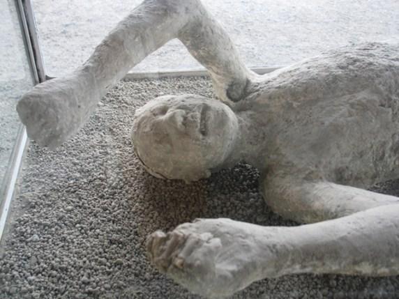 Plaster casts capture the last moments of Pompeii's citizens