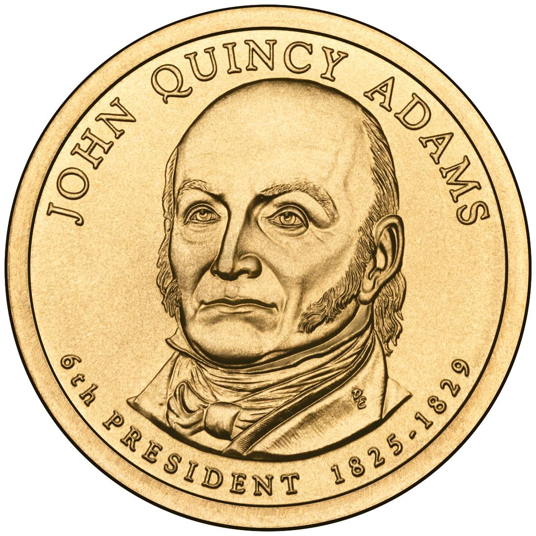 File John Quincy Adams Presidential 1 Coin Obverse