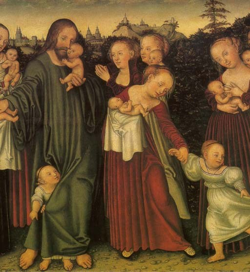 Lucas Cranach the Younger, Christ blessing the Children, Erfurt Angermuseum