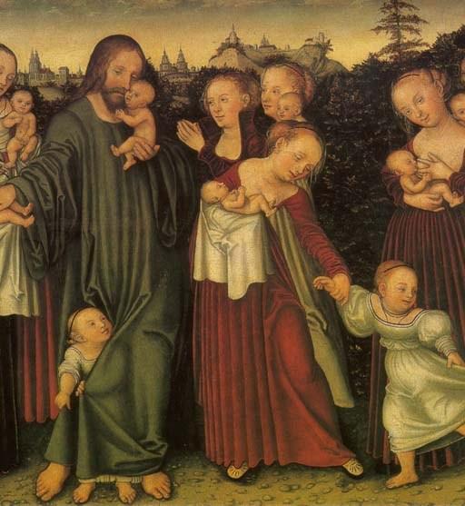 Lucas Cranach the Younger, Christ blessing the Children, Erfurt Angermuseum