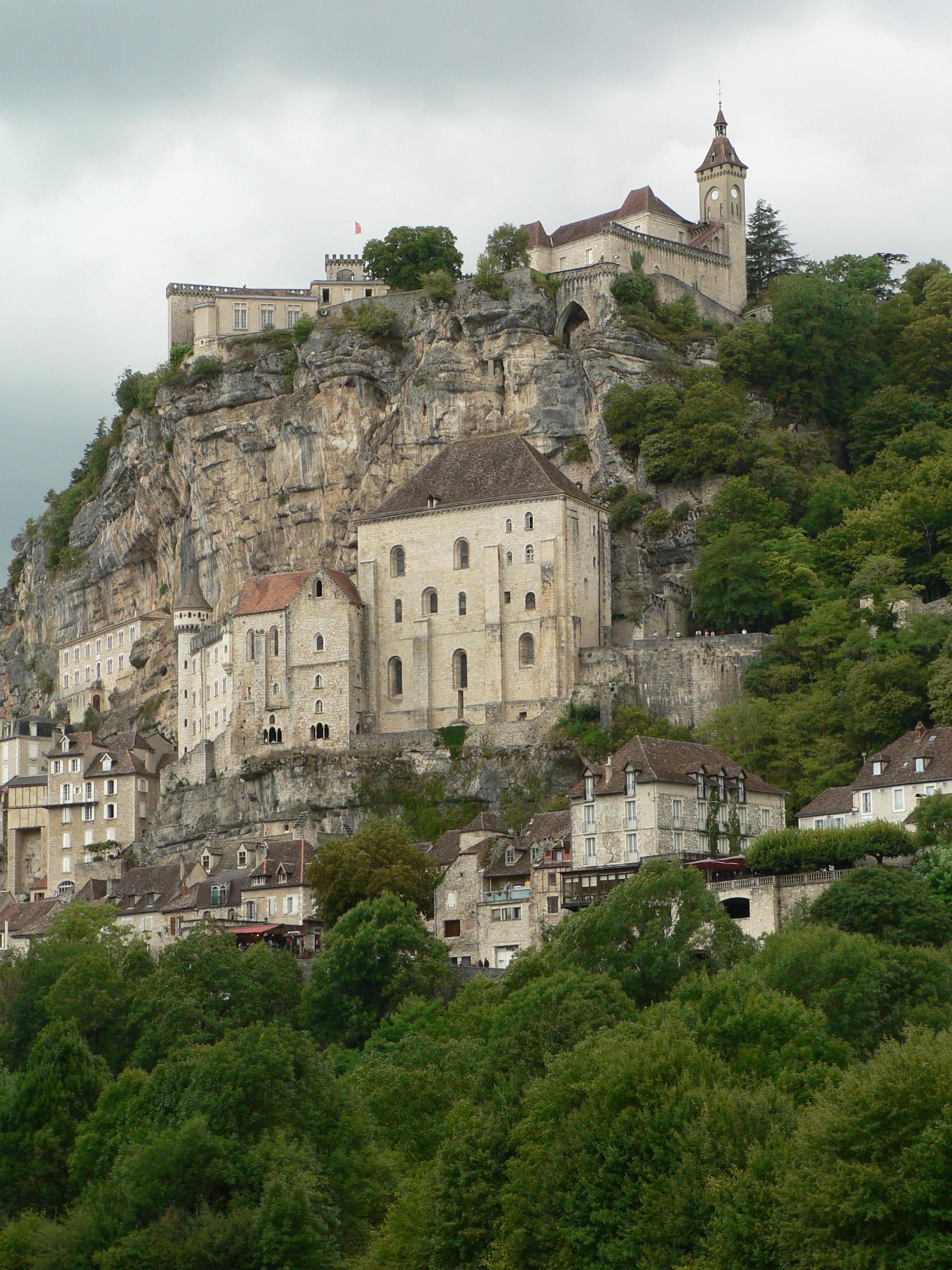 Rocamadour (France) vue générale par temps gris