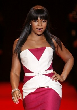 Ashanti modeling at The Heart Truth Fashion Sh...