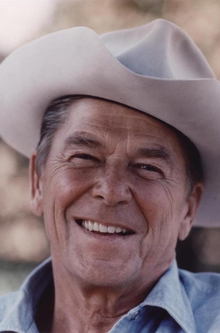 President Ronald Reagan in Cowboy Hat