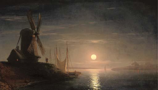 File:Um moinho dominando a baía à luz lunar.jpg