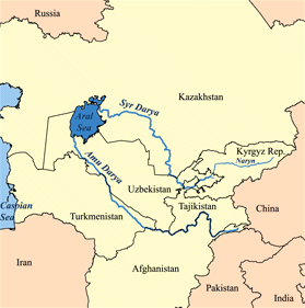 La Transoxiane, entre Amou et Syr-Daria - Wikicommons