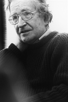 Photograph of Noam Chomsky