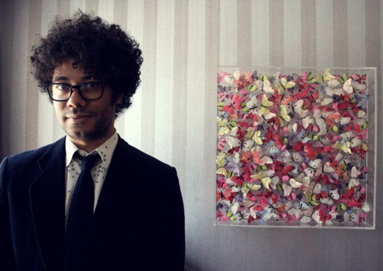 Richard Ayoade at Soho Hotel