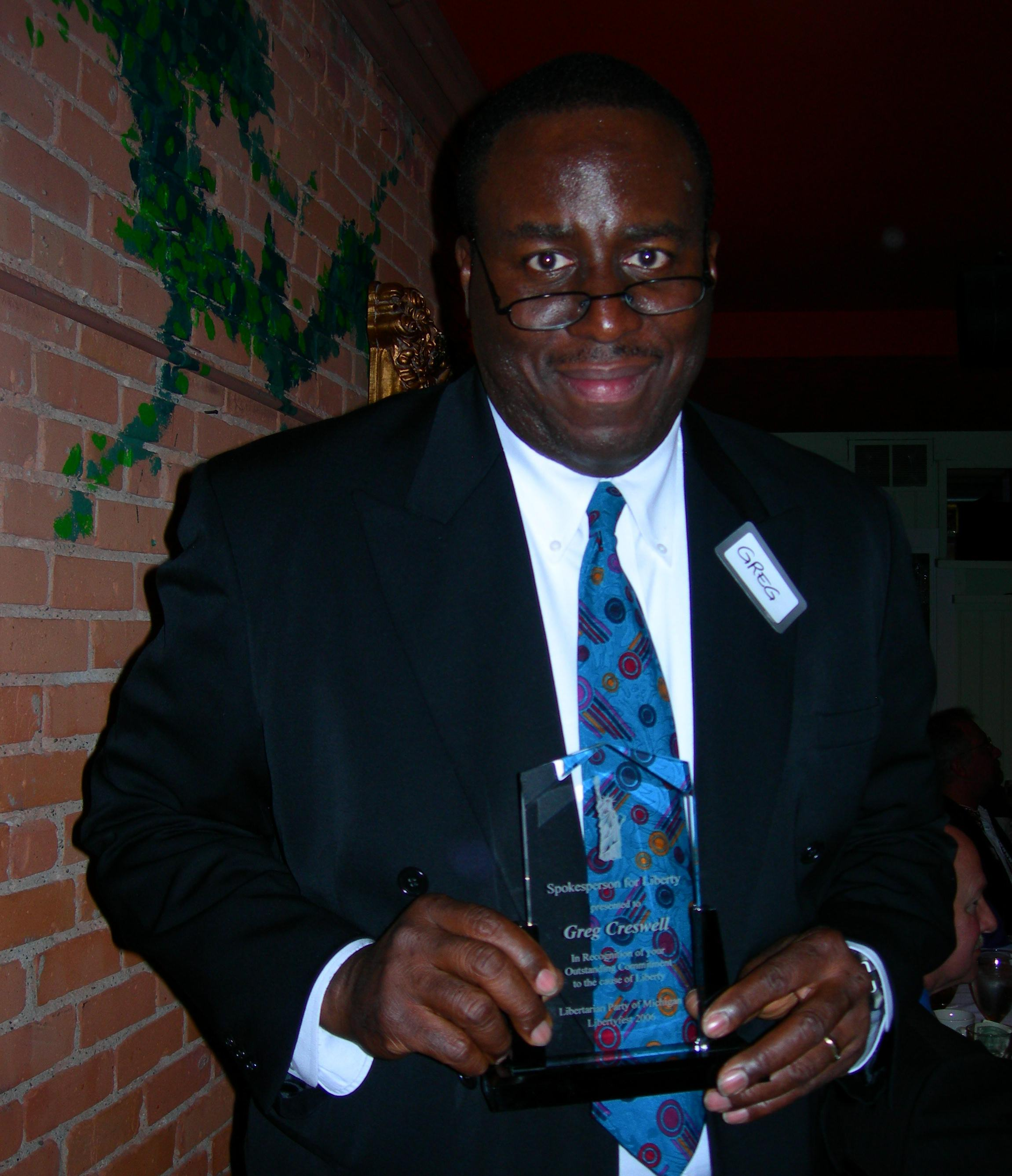Gregory Creswell 2006 Defender of Liberty Award winner.