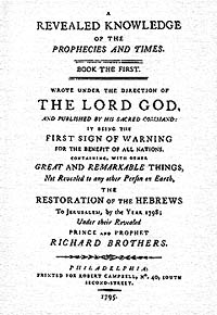English: Title page of Richard Brothers's A Re...