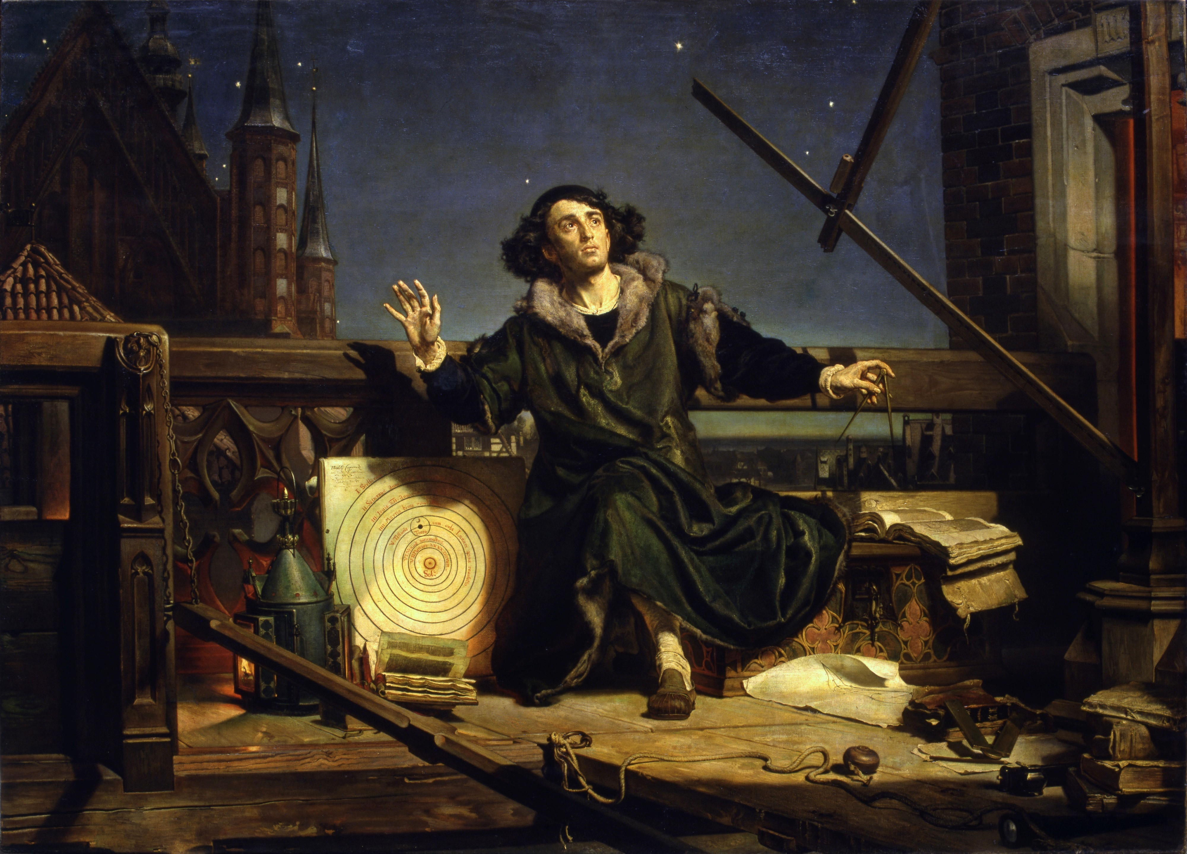 Jan Matejko, 1872. Astronomer Copernicus. Conversation with God.