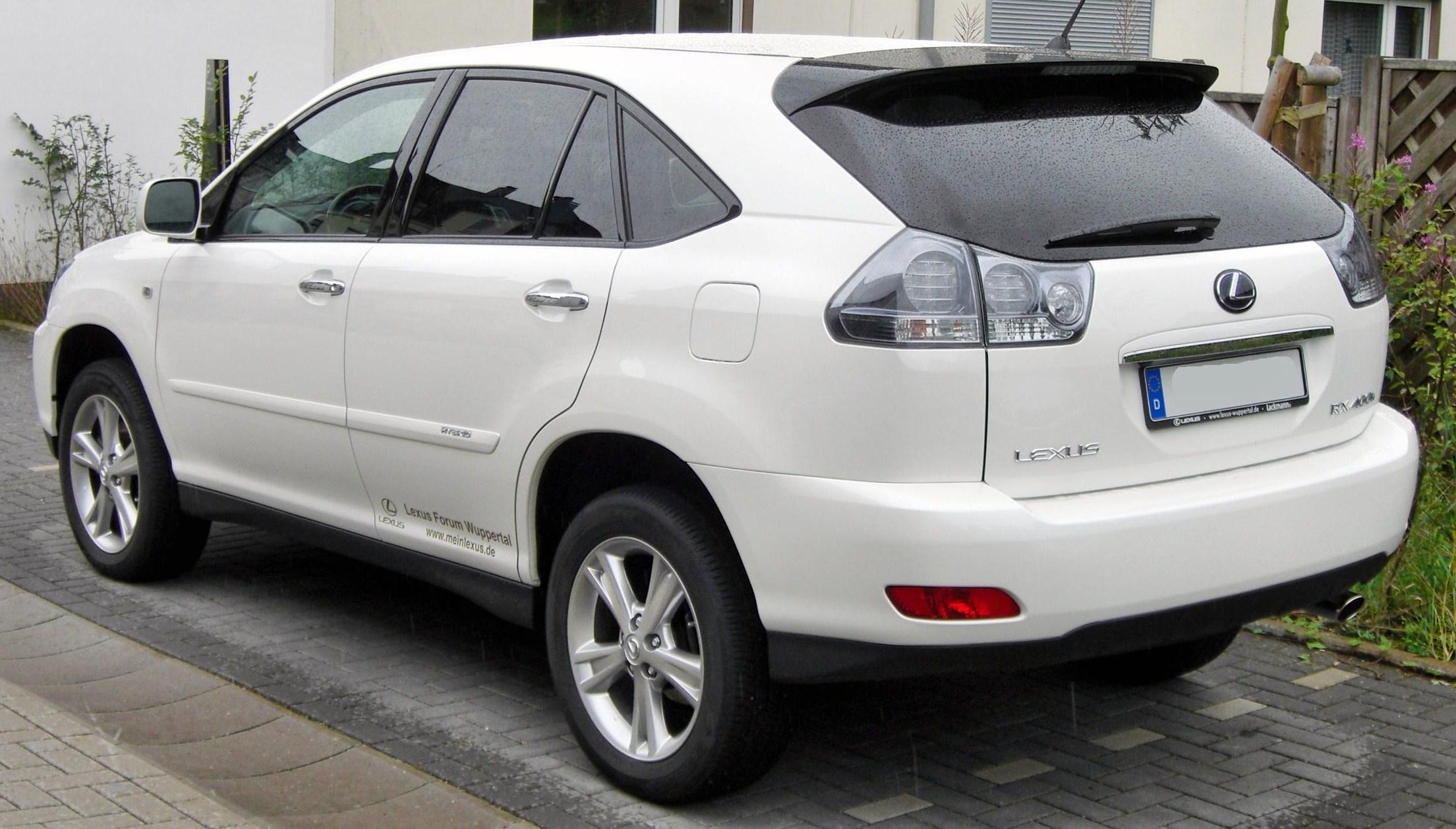 File Lexus RX 400h rear JPG Wikimedia mons