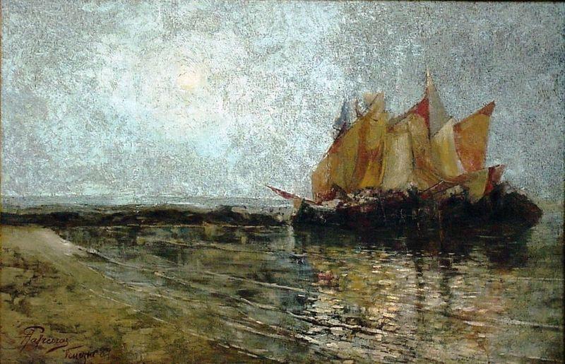 File:Antônio Parreiras - Amanhecer no Adriático (ilha de Chioggia, Veneza, Itália).jpg