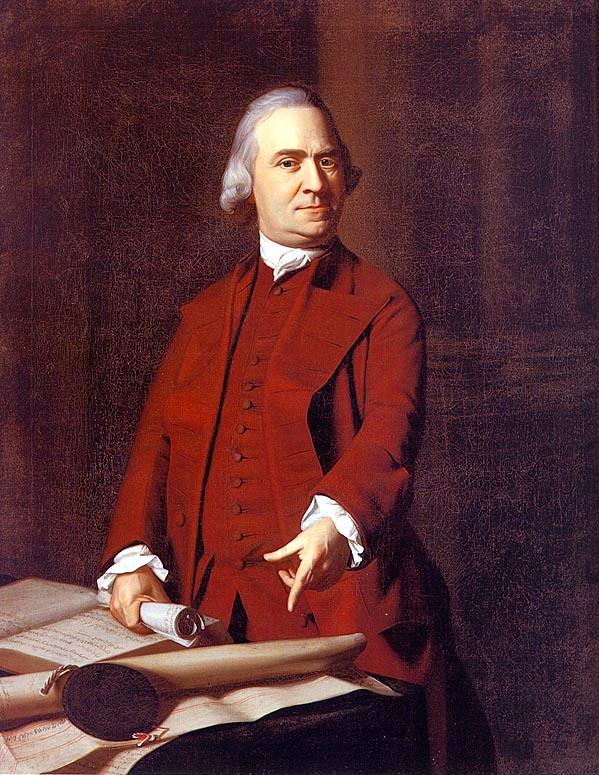 Samuel Adams, famous J. S. Copley portrait