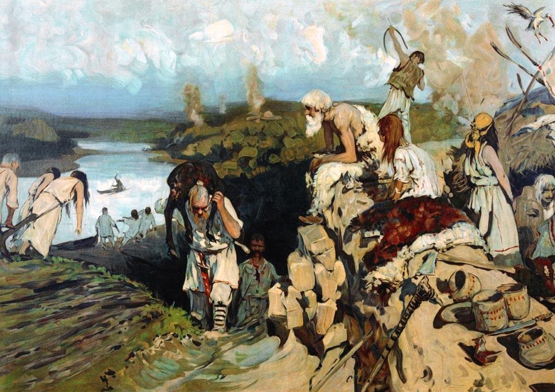 Daily Life of Eastern Slavs, by Sergey Vasilyevich Ivanov (1864–1910).