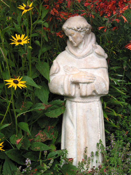 St. Francis statue. Image via Wikipedia.