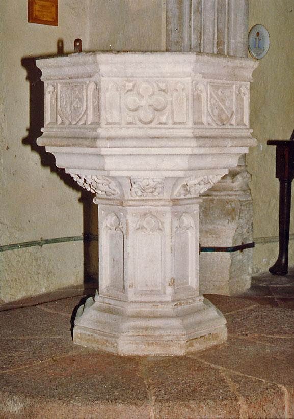 File:St John the Baptist, Higher Ashton, Devon - Font - geograph