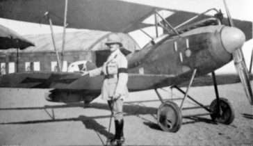 Albatros D III fighter in Palestine 1918