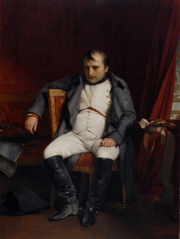 Paul Delaroche (1797–1856): Napoléon Bonaparte abdicated in Fontainebleau.