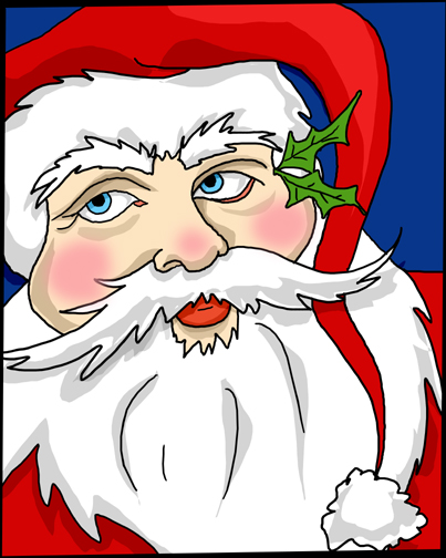 I'm going to draw one Santa Claus each day unt...