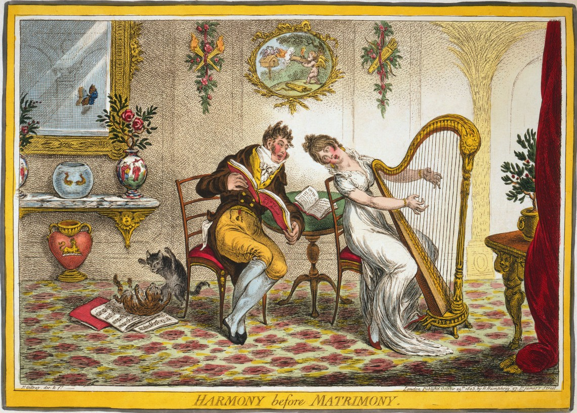 1805 Gillray Harmony before Matrimony Greek Fashion