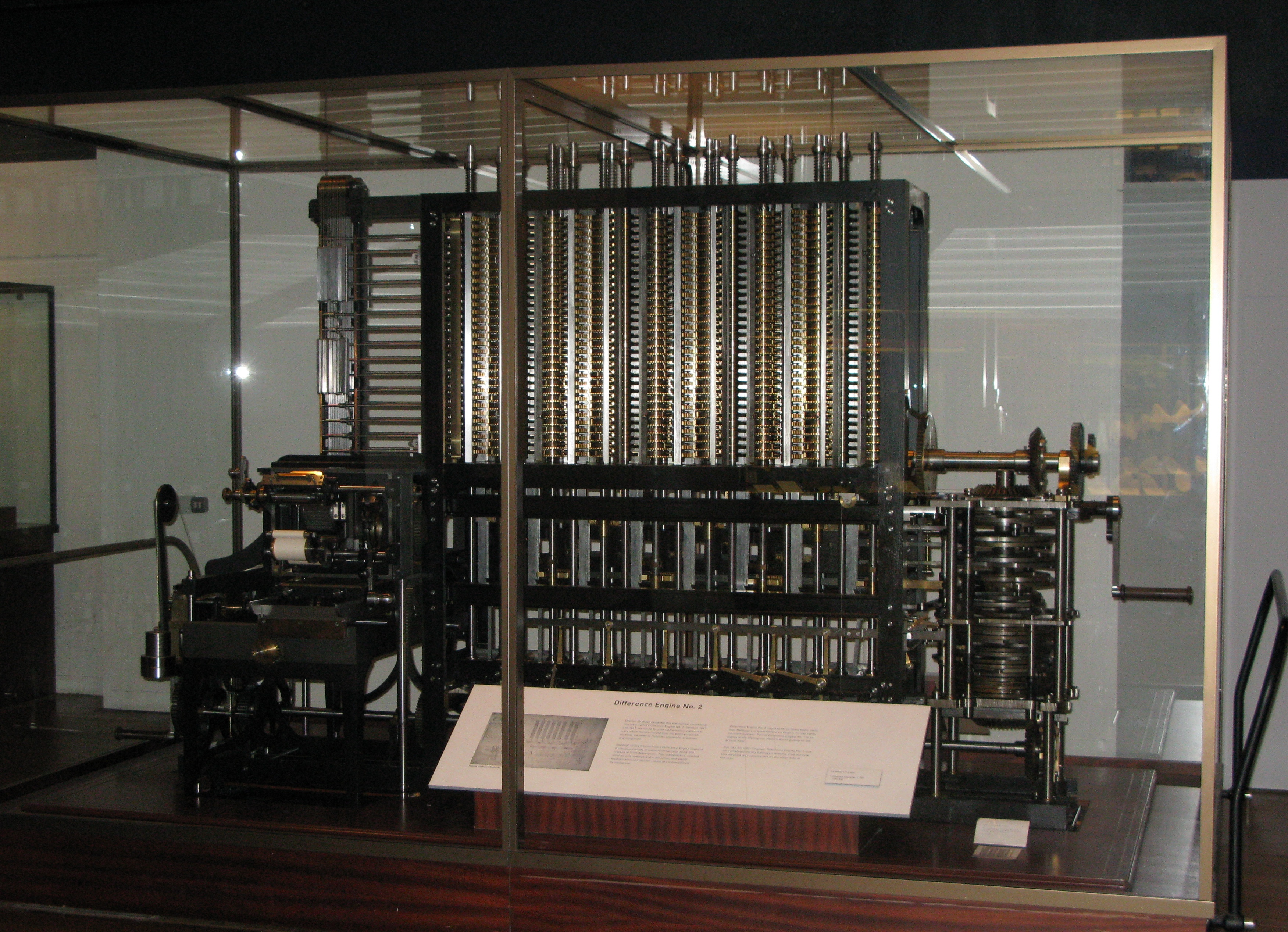Babbage's Difference Engine - one of the earliest computers that wasn't a person