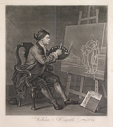 Hogarth painting the muse