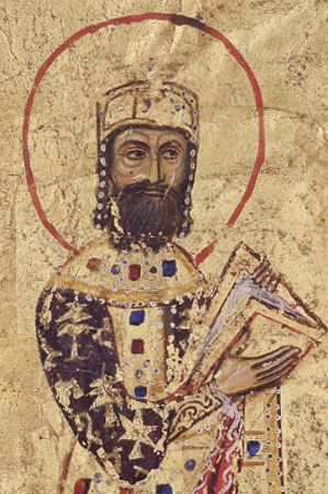English: Portrait of the Byzantine Emperor Ale...