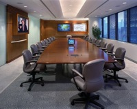 English: Integrated boardroom designed and ins...