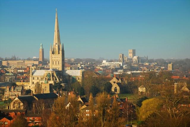 Norwich City Centre Skyline