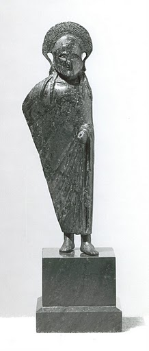 English: Bronze figure of a Spartan officer. 6...