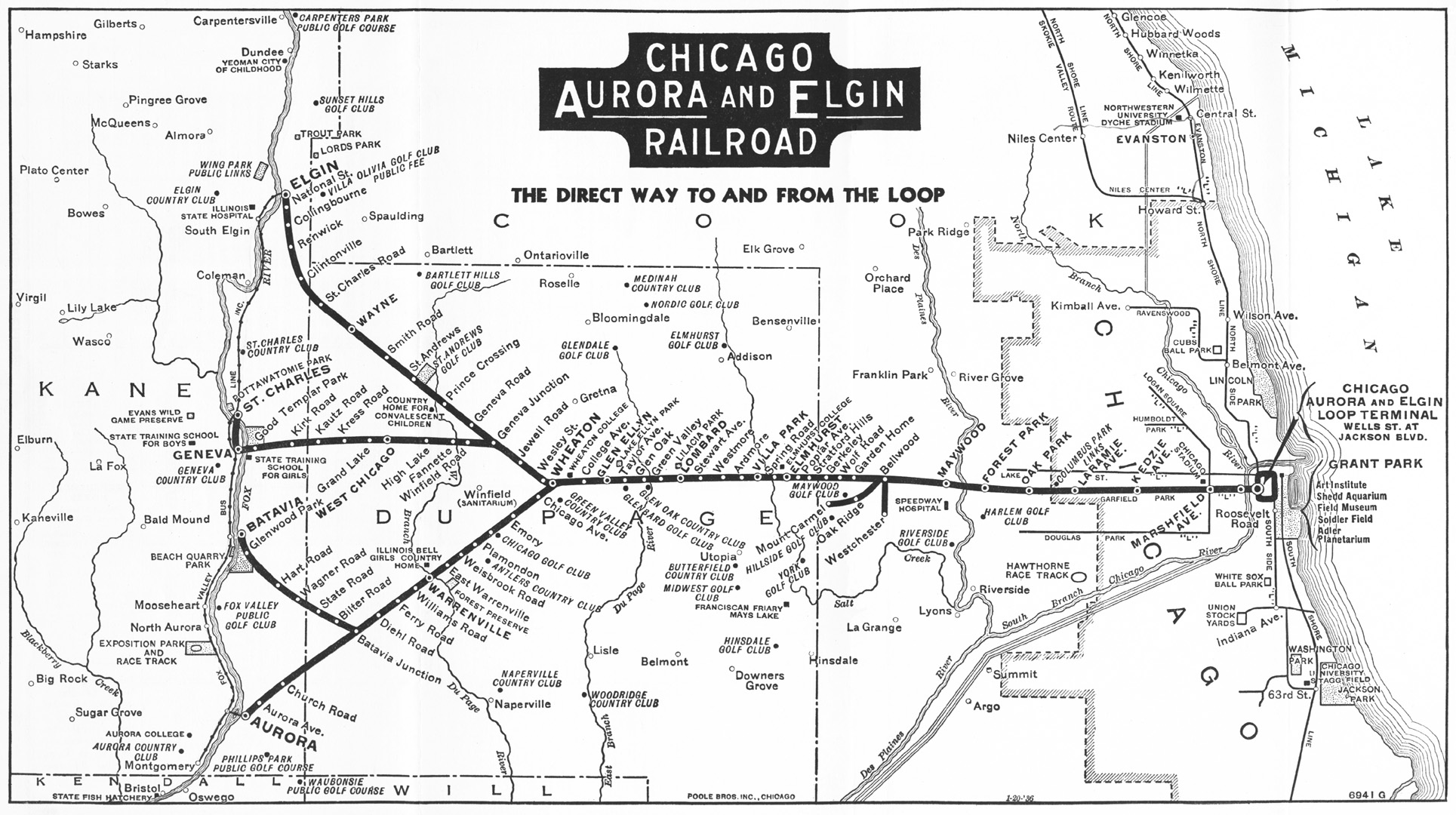 Chicago Rail Map From And What Was To Become The Ipp