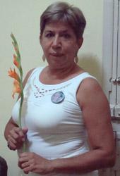 English: Julia Núñez, Ladie in White, the wife...