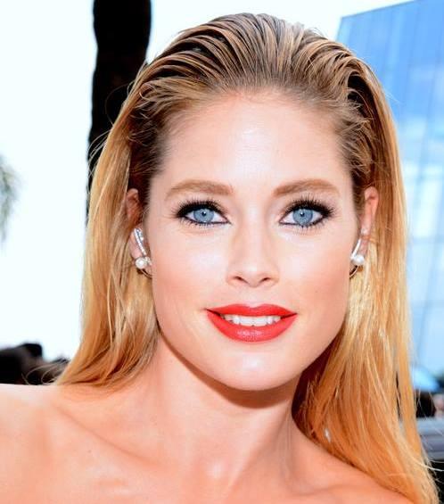 Doutzen Kroes Cannes 2015 2 %28cropped%29 Blonde Hair Brown Eyes Boy