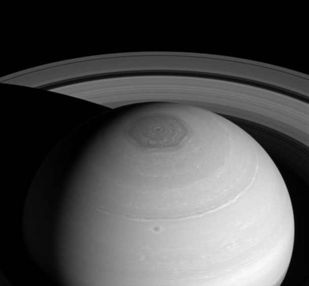 Image result for saturn north pole