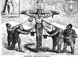 Vignetta antisemita pubblicata in USA nel 1896