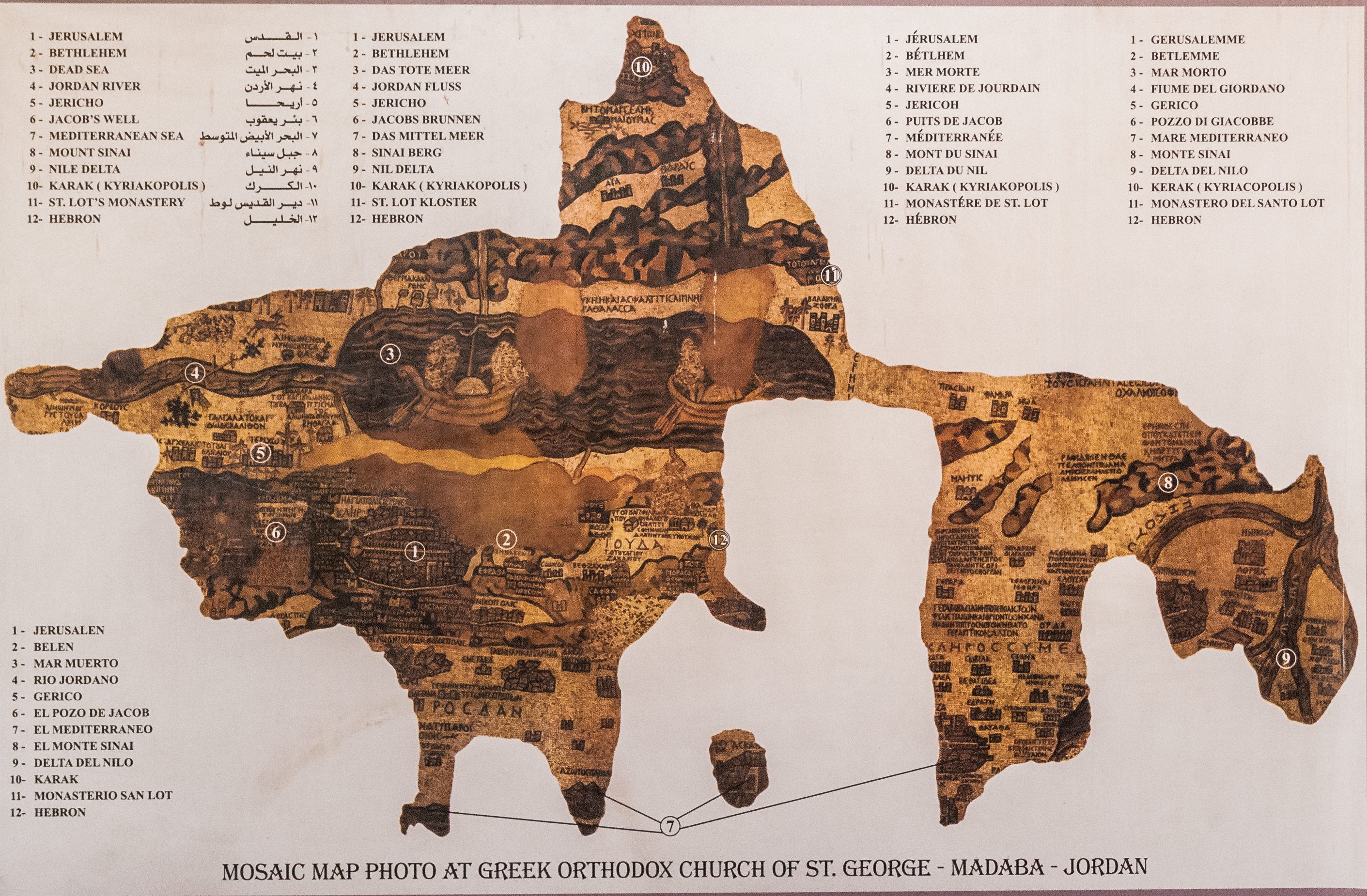 The Oldest Surviving Map of the Holy Land  Petros Jordan