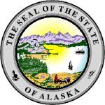 The Alaska state seal.