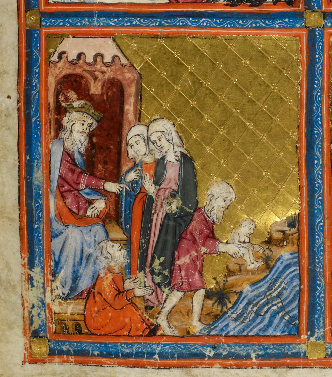 English: Pharaoh and the Midwives, miniature o...